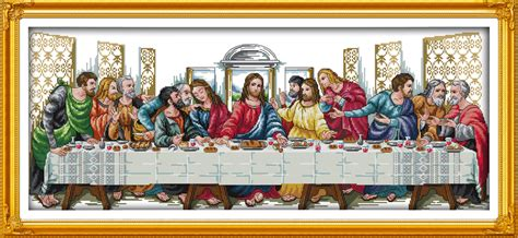 Diy Painting The Last Supper 2 buy wholesale christian cross stitch from china