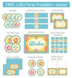 free luau party printables extras free party