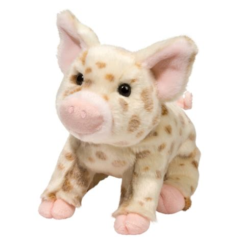 stuffed pig mudpie the plush white pig with brown spots by douglas at