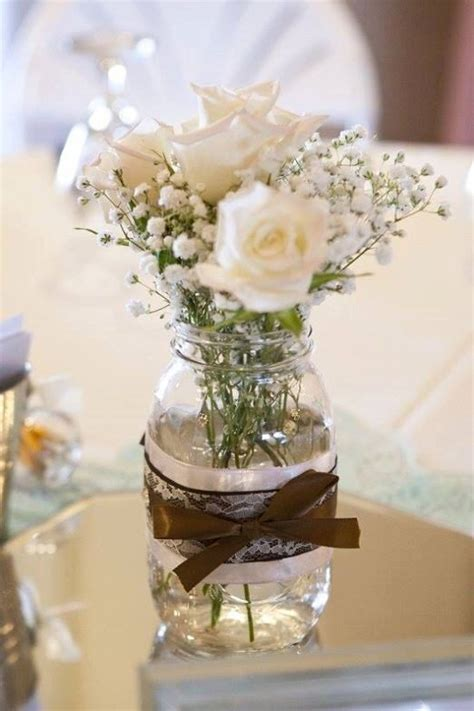 wedding table decorations with jars 14 best burlap gold and white bridal shower images on white bridal bridal shower