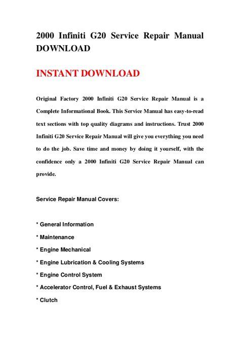 free download parts manuals 2000 infiniti g on board diagnostic system 2000 infiniti g20 service repair manual download