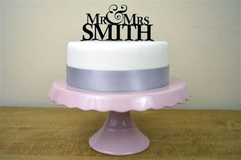 Wedding Cake Toppers Simple by Personalised Mr Mrs Simple Wedding Cake Topper Choose