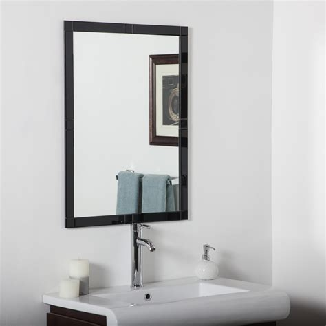 bevelled bathroom mirrors decor wonderland frameless beveled kinana mirror beyond