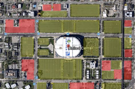 united center chicago map the for a united center green line expansion