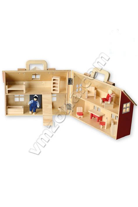 wooden doll house accessories beluga collapsible wooden dollhouse accessories 70132