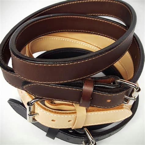 heavy duty 2 ply 1 5 inch wide plain leather belt