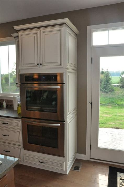 double oven kitchen cabinet fischer homes finished decorative end panel cabinet yes