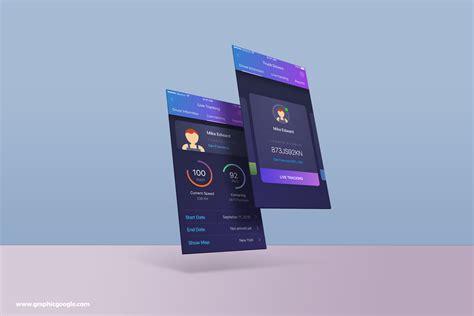 design mockup app free psd app screens mock up template
