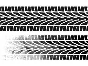 tire tracks on white psdgraphics