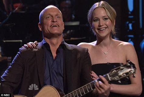 woody harrelson on snl jennifer lawrence steals the spotlight from woody