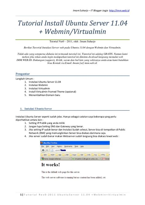 tutorial web host manager tutorial installasi ubuntu 11 04 untuk webhost dengan