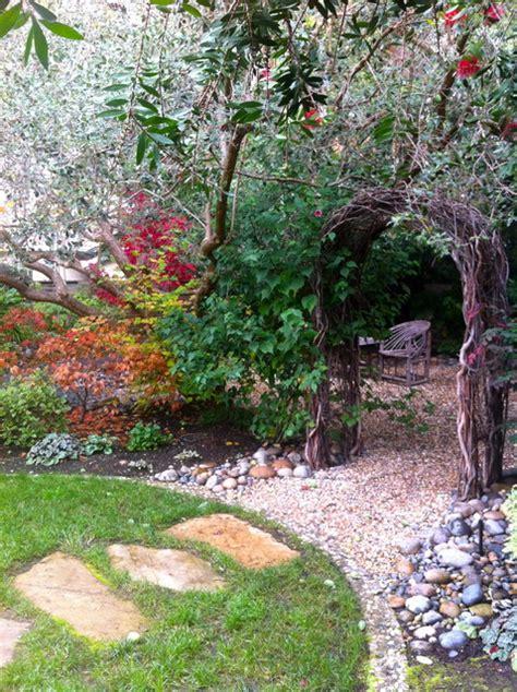 creating a backyard garden willow arch in a palo alto garden eclectic landscape