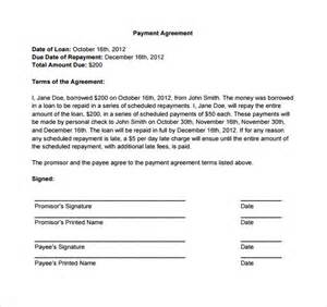 Free Payment Agreement Template Payment Agreement Letter Best Letter Examples