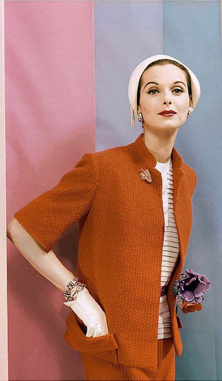 Blouse B 1955 1955 st in wool jersey jasco suit with white blouse by anthony blotta cloche