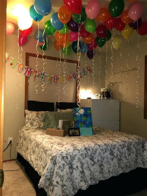 birthday room decoration ideas  boyfriend