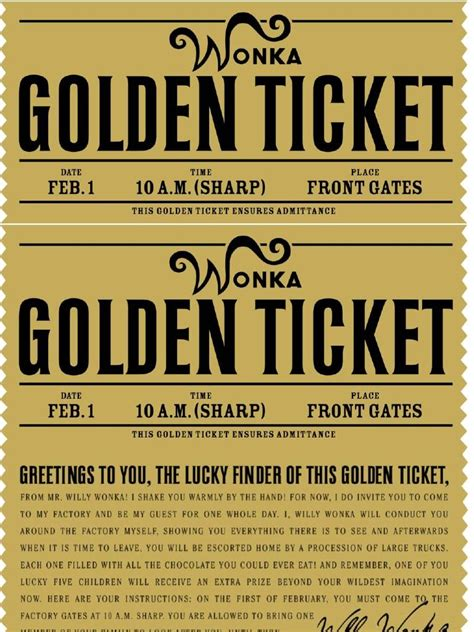 free printable golden tickets free printable willy wonka s golden ticket need to have a