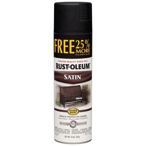 shop rust oleum 15 oz black satin spray paint at lowes