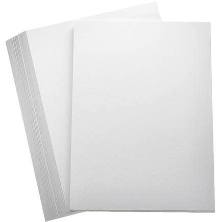 Home Decor Black And White by White Premium Hammered Card A4 100 Pack Hobbycraft