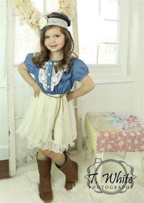 Wst 18465 White Flower Denim Skirt denim toddler tutu dress vintage dress rustic