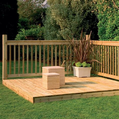 240 Yard Home Design decking kit with handrails 2 4 m decking kits at