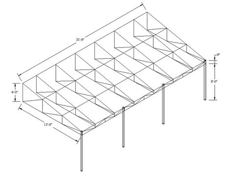 awning drawing awning frame drawings