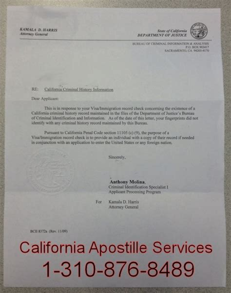 California State Criminal Record Sle Letter Of Request For Legalization Of Documents Italian Dual Citizenship Help