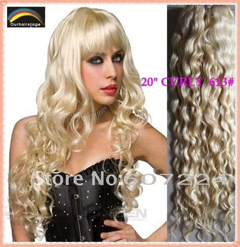 curly weft human hair extension free shipping 20 curly wavy weft hair extension 613 100