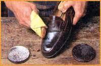 Schuhe Polieren Nylonstrumpf by Edmeier