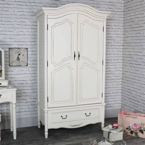 cream armoire wardrobe large antique cream vintage style double wardrobe armoire