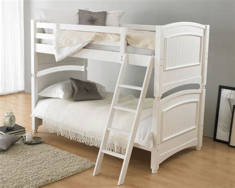bunked beds colonial white wooden bunk bed