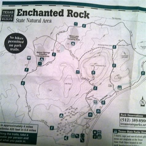 enchanted rock texas map every day is an adventure