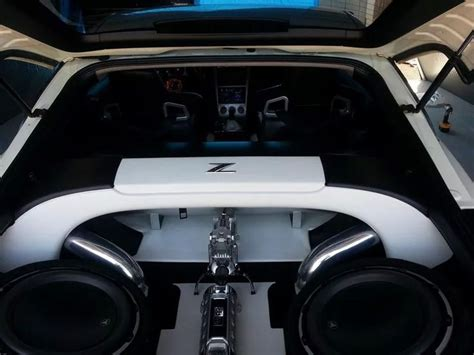 custom nissan 350z interior nissan 350z black and white boot interior cars