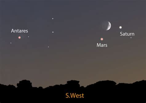 what is on tonight tonight s moon mars saturn trio recalls time of terror