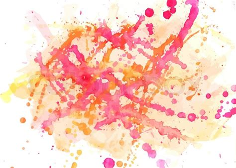 spots and blobs watercolor abstract painted