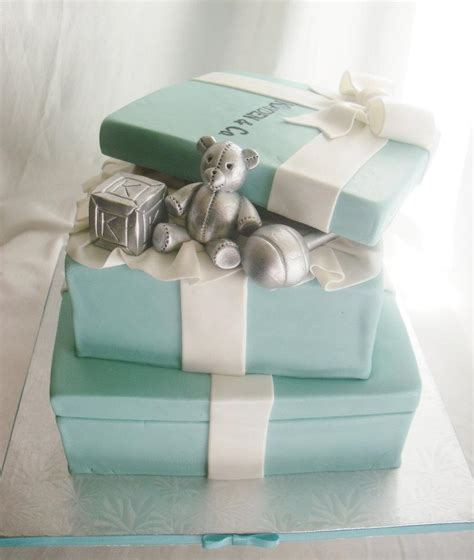 And Co Baby Shower by Made Fresh Daily Two Tier Co Themed Baby