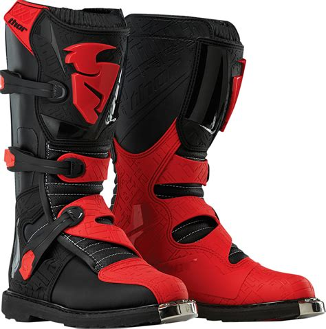 red dirt bike boots thor mx gear 2015 blitz black red dirt bike off road