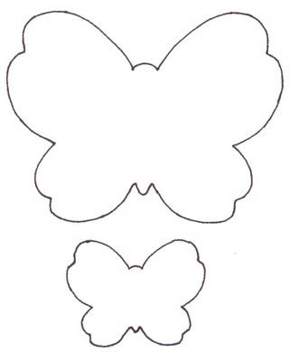 large butterfly template printable butterfly color template clipart best