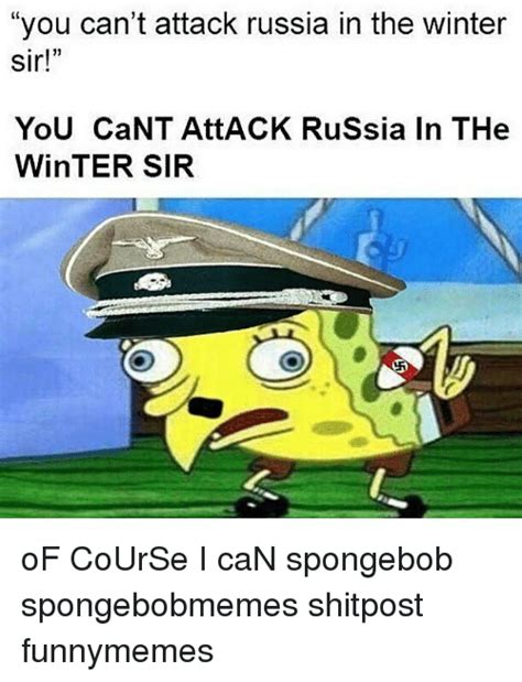 I Cant Breathe Meme - you can t attack russia in the winter sir you cant att