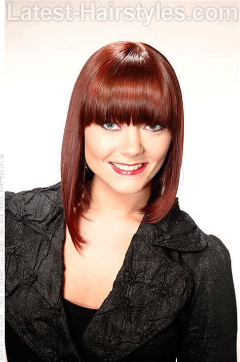 bob with heavy fringe 20 medium hairstyles for fine hair from drab to fab