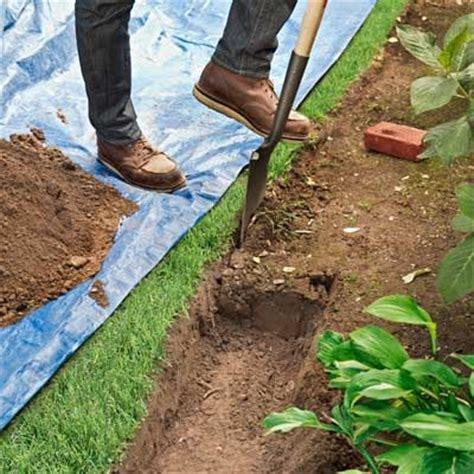 Landscape Edging Trench 25 Best Ideas About Brick Garden Edging On