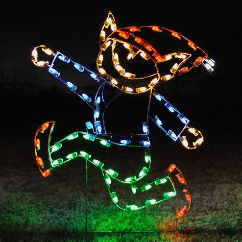 a large collection of outdoor christmas light displays 10