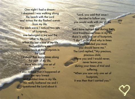 printable version of footprints in the sand poem 7 best images of printable footprints in the sand