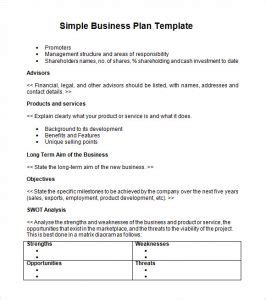 business plan outline template business 19 free