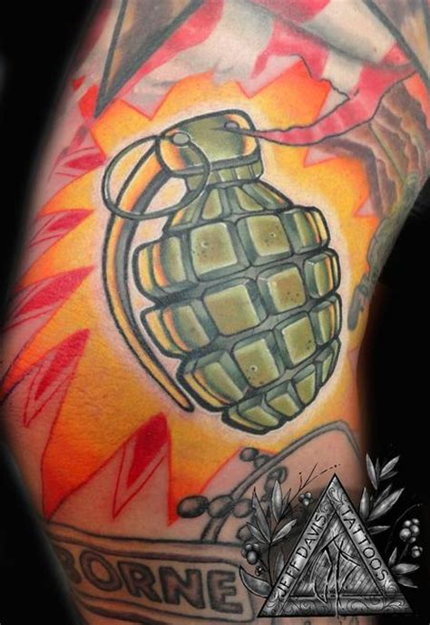 grenade tattoos grenade by jeff davis sr tattoonow