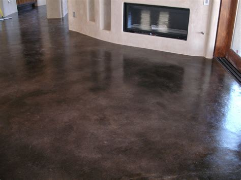 prepping to stain concrete in the kitchen concrete floors stained rustic painted concrete flooring