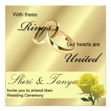 ring ceremony invitation card template free wedding invitations announcements zazzle co uk