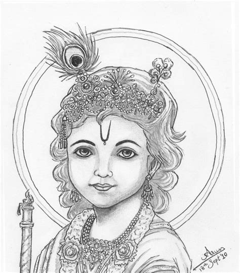 doodle drawings images lord krishna pencil drawing images images of pencil
