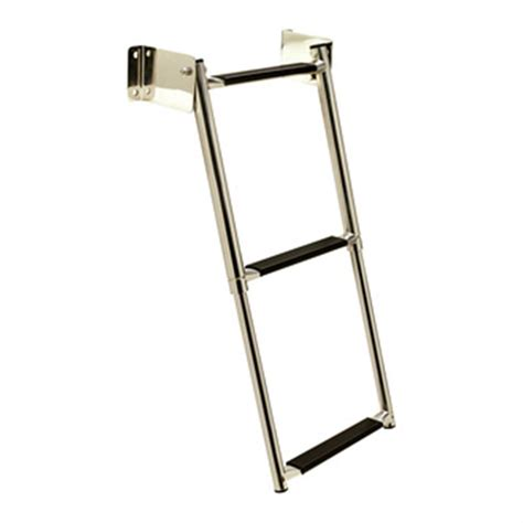 boat ladder seachoice telescoping transom mount ladder 198824 boat hardware at sportsman s guide