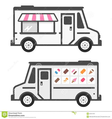 ice cream truck stock vector image of pink colorful
