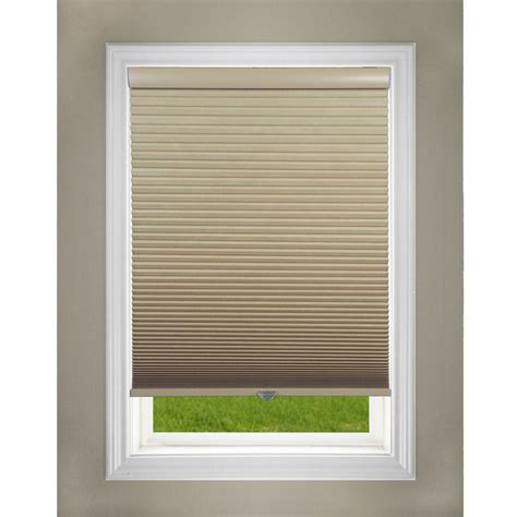 l shades lift window treatment khaki cordless blackout cellular shade 38 in w x 64 in l